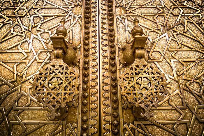 """Golden Gates of Royal Palace """"Dar el Makhzen"""""""
