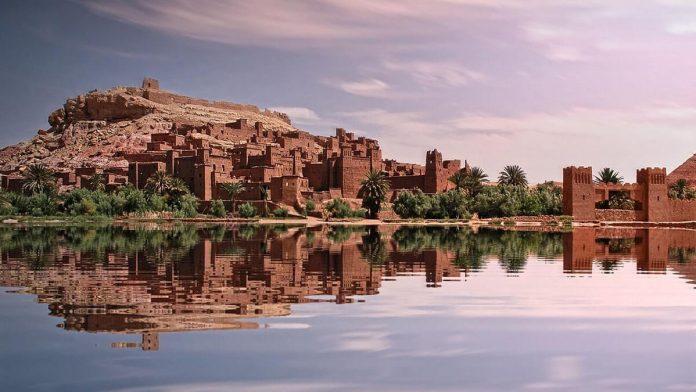 Kasbah Ait Ben hadou, desert sahara of Morocco