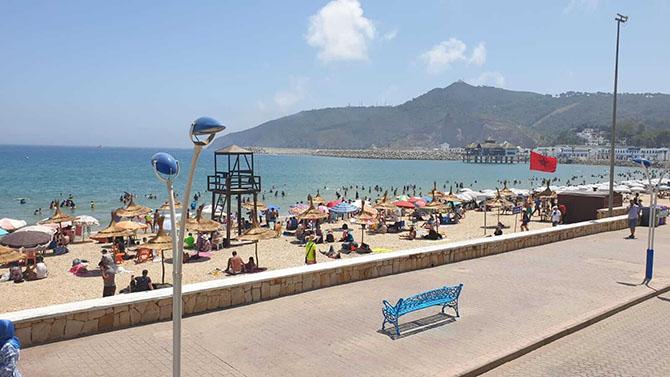 M'diq beach in Morocco